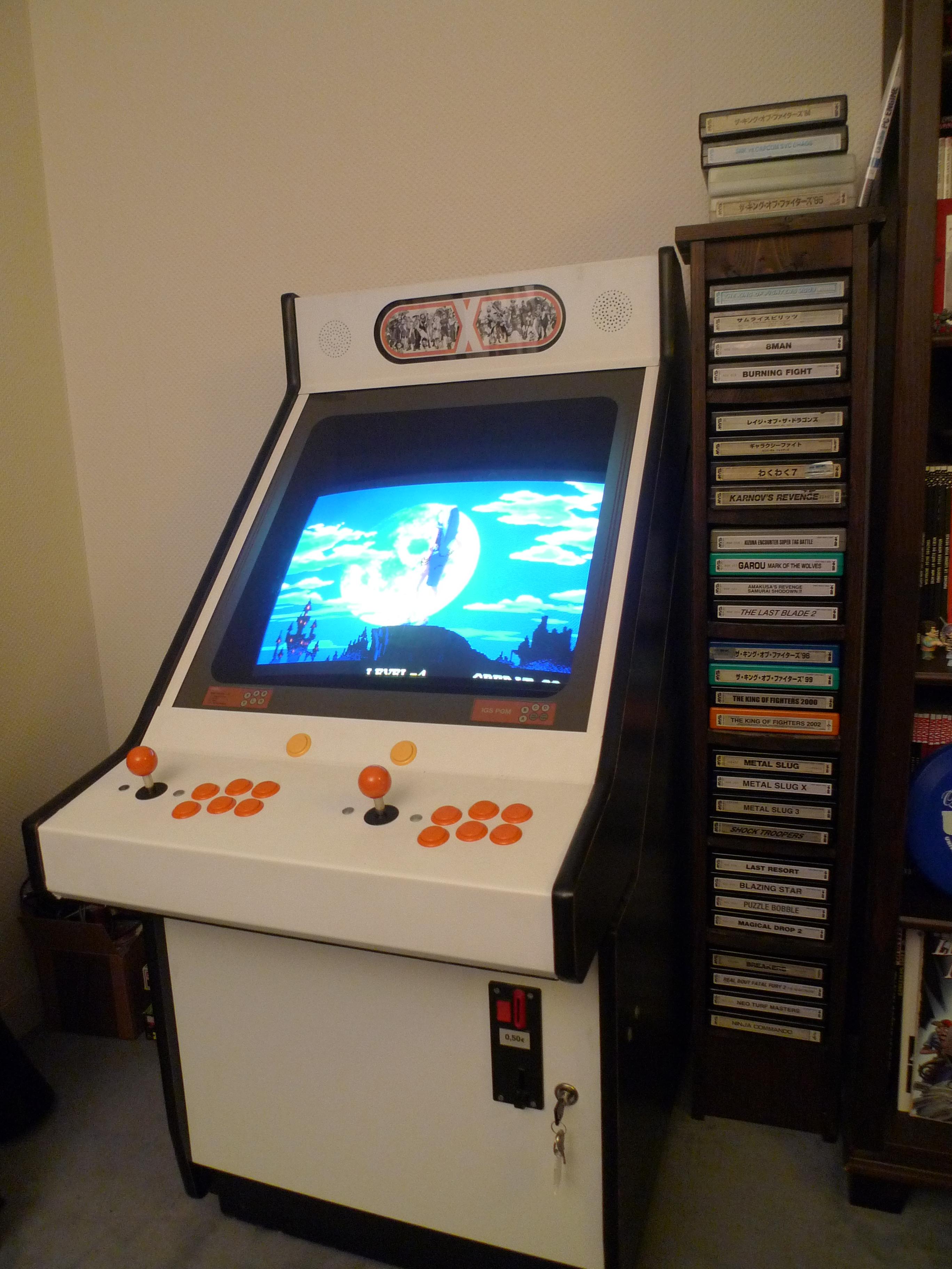 borne arcade assise