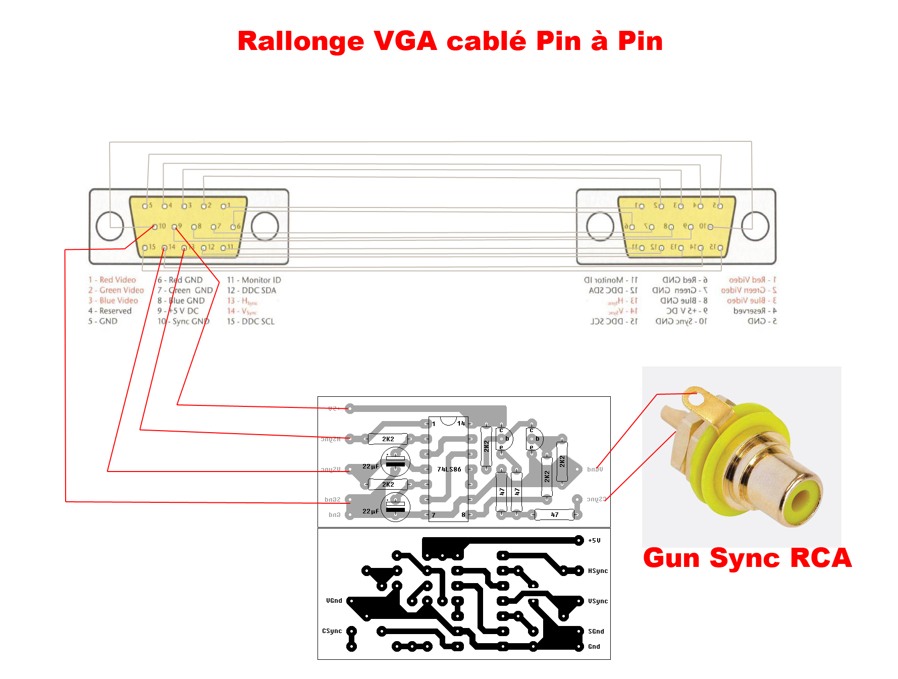 Vga To Rca Video Converter Schematic Cable Pinout Diagram Beautiful Wiring Motif Electrical Rh Itseo Info
